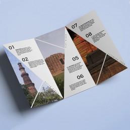 Qutub Minar Brochure Design